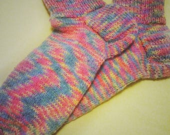 "Knitted socks ""Catch the rainbow"""