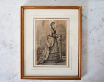The illustration framed themed fashion from the late 19th century.