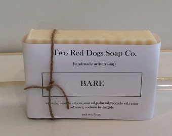 Artisan Coconut Soap Unscented *New Avocado, Palm , Castor oil Formula!