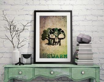Golgari Swarm – Magic The Gathering Poster 11x17 Lustre Print