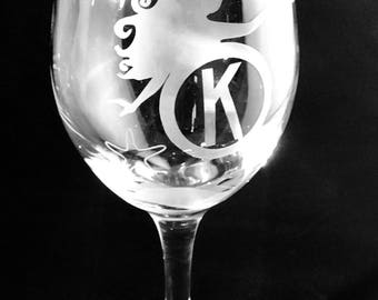 Etched Glassware.