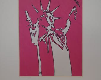 Statue of Liberty - pink