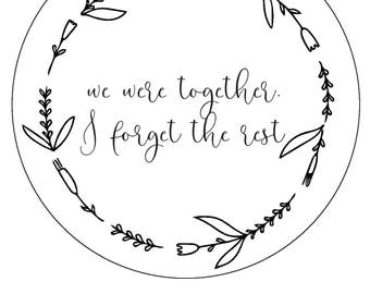 We Were Together, I Forget the Rest // beginner hand embroidery pattern