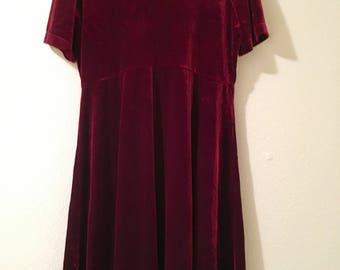Velvet Babydoll Dress!