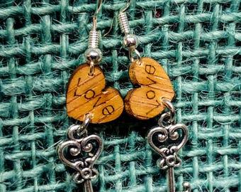 The Key To My Heart Earrings