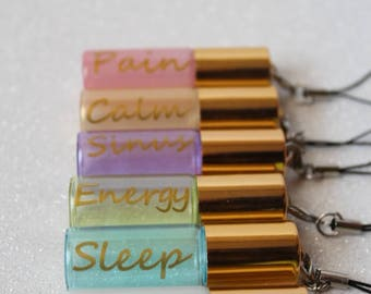 Pastel pearl glass roll on bottles for your favoritie oils or perfume!