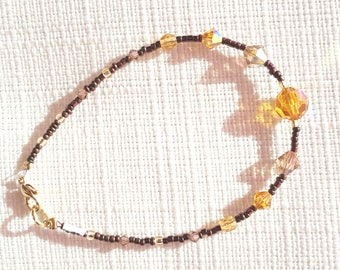 Yellow ocher and bronze bracelet