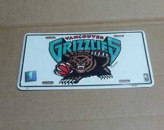 Vancouver Grizzlies License Plate
