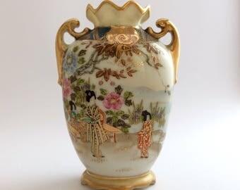 Small Noritake vase c1920s with Maruki mark FREE SHIPPING