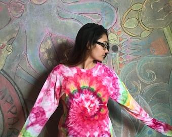 Wave - Ice Tie Dye Longsleeve (Pink)