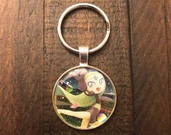 Meloetta Pokemon Keychain