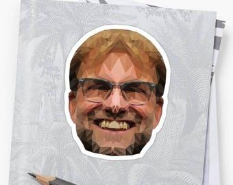 Jurgen Klopp Sticker - Liverpool LFC Fan