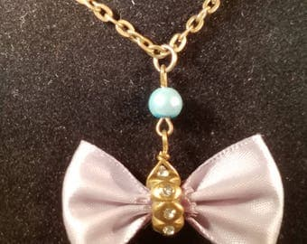 Lavender Bow Necklace