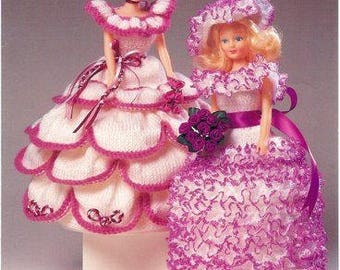 Knitting Pattern For Barbie Doll and Me- knitting pattern dress-Dress for Barbie handmade/ PDF / Pattern / Instant Download.