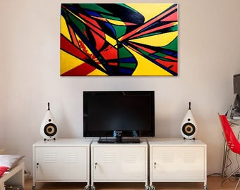 Original abstract acrylic painting by contemporary artist