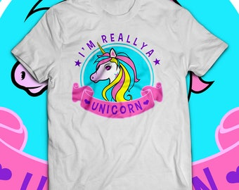 I'm Really a Unicorn T shirt - Unicorn shirt - Unicorn tshirt - Girls unicorn shirt - Little girl - Birthday gift shirt - Girl birthday shir