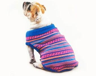 Dog Sweater All Sizes , Knitting Pattern