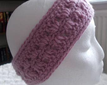 Handmade crochet purple ladies  headband/ear warmer