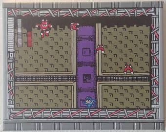 Mega Man Painting - 8x10