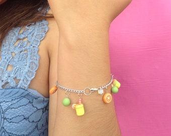 Bracelet for her, bracelets for women, handmade bracelet, handmade bracelet, charm bracelet, lemonade bracelet, holiday bracelet