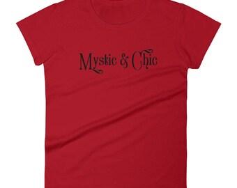 Mystic and Chic Logo Fashion Statement Tee Women's short sleeve t-shirt