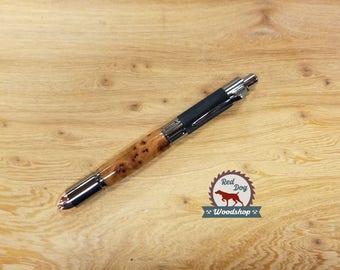 Revolver Pen, Gun Enthusiast, Comfortable Pen, Gifts for Him, Custom Gifts for Men, Exotic Thuya Burl Pen