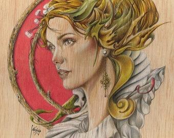 Lemon leaf. Original illustration