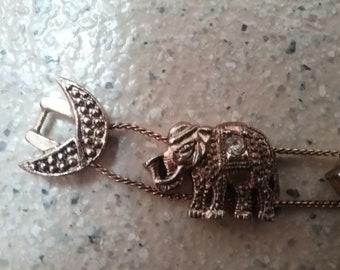 Vintage Elephant Bracelet - Costume Jewellery