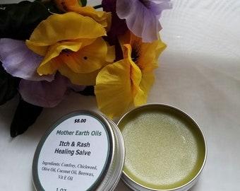 Itch & Rash Salve, Healing Salve, Herbal Salve, 1 oz tin