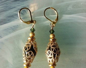 Earrings in a Moroccan or Tunisian filigree style