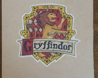 Prismacolor Drawing - Gryffindor House Crest