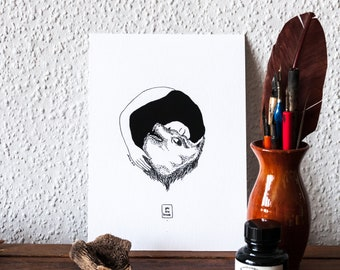 You Are Brave Art Print Illustration Pen and Ink