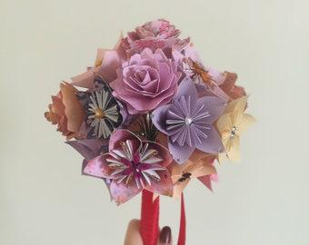 Origami/paper flower bouquet