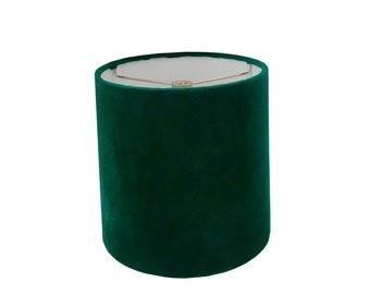 Green Velvet Drum Lampshade-Velvet  Lamp Shade- Lampshade-Custom Made-To-Order-Home Decor-Table Lamp