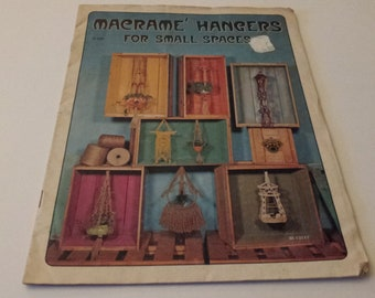 Macrame' Hangers for Small Spaces Vintage 1975