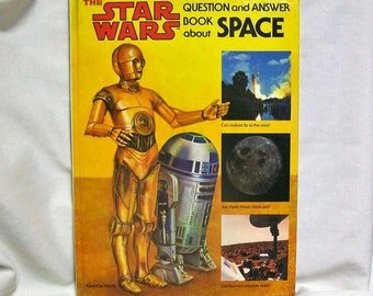 Vintage Star Wars Question & Answer Book About Space Hardcover 1979 1st Edition