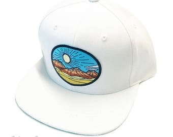 Desert Red Rocks : Flat Brim Cap