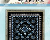 Winter Into Spring January Counted Cross Stitch Pattern by Pamela Kellogg
