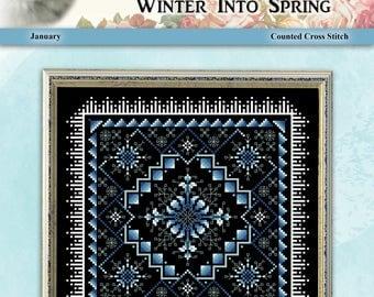 Winter Into Spring January Counted Cross Stitch Pattern by Pamela Kellogg