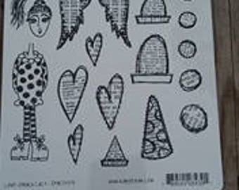 Dylusions Stamp set Love Struck Lucy