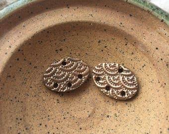 Polymer Clay Connector | Chandelier Style | Metallic Bronze | Polymer Clay Beads | Handmade components | Clay Earrings beads
