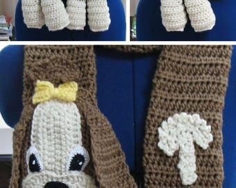 Crochet Pattern - Shih Tzu Scarf Pattern - Dog Theme Gifts - Women's Scarves - Men's Scarf - Crochet Scarf - Animal Scarf - Digital Download