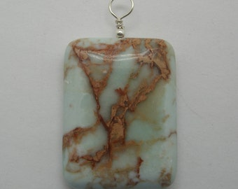 Jasper  and Sterling Pendant