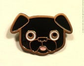 Buddy the Black Pug Deluxe Enamel Pin