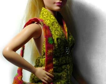 Curvy Barbie Retro Green Jumpsuit with Purse