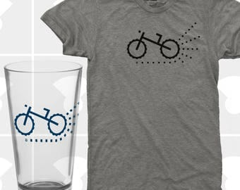 Mountain Bike & Pint Glass Set - Men