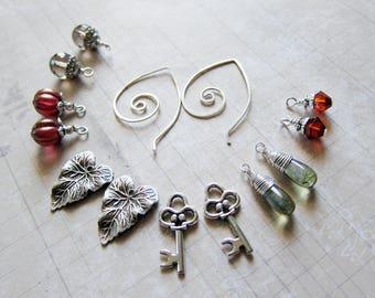 Sihaya Designs Earring Wardrobe -- Yuletide Secrets --  Winter Holiday Christmas Mix and Match Earring Set