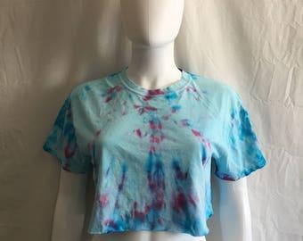 Tie dye crop top t shirt