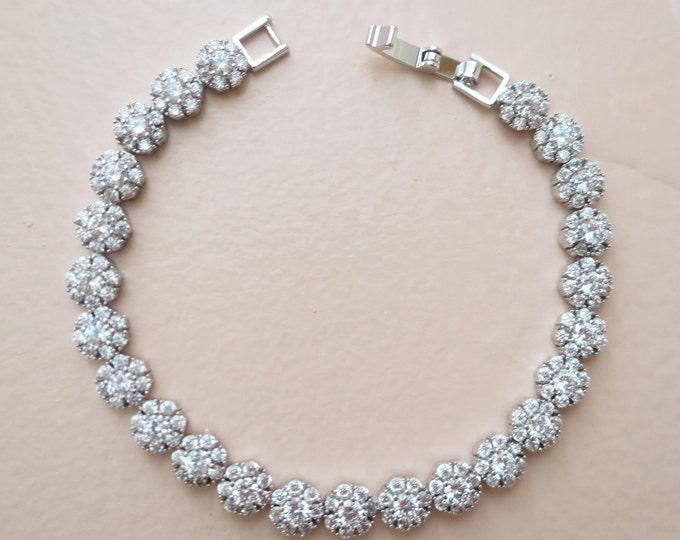 Zirconia Flower Bracelet ZARA