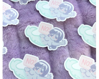 NO! Mermaid Die Cut Vinyl Sticker
